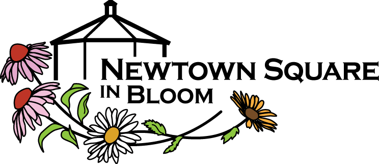 Newtown Square in Bloom Logo